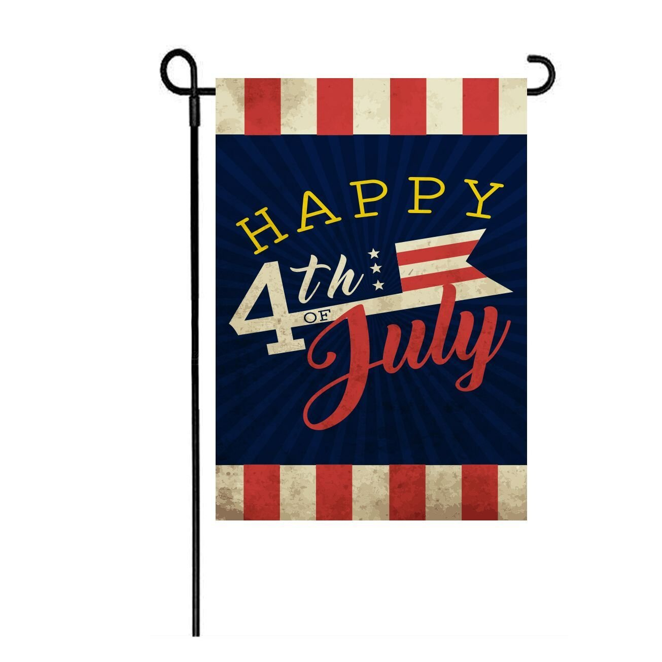 Lhsion 4th Of July Patriotic Garden Flag 12 5 X 18 Independence Day Memorial Garden Flags Decorative Double Sided Flag For Anniversary Décor