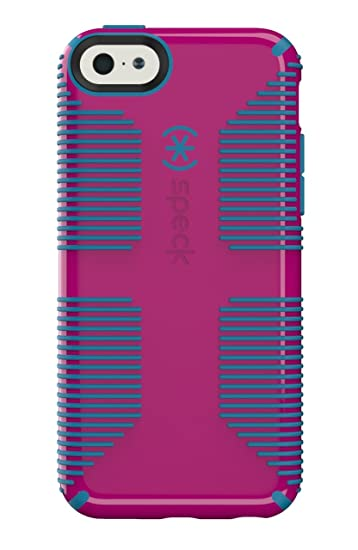 ed6e3de7cf9 Speck Products CandyShell Grip Case for iPhone 5c - Retail Packaging -  Lipstick Pink/Jay