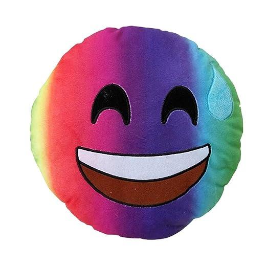 Cojín Emoji, yistu nuevo coloré Emoji almohada Arc en ciel ...
