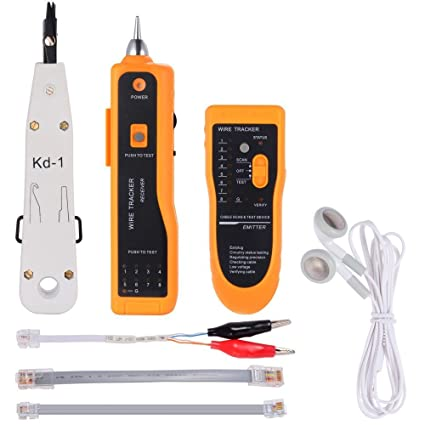 uphere multímetro digital detector probador de cable rj45 rj11 para cables telefónicos Cable de Internet telecomunicaciones