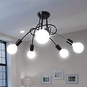 Pendant Lights LED Light Modern Pendant Ceiling L YWXLight Creative Bedroom Living Room LED Dining Hanging Lamp Wrought Iron Restaurant Retro Pendant Lights Pendant Lights (Size : Cold White)