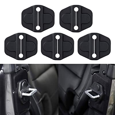Jade Onlines for JL Door Lock Cover Buckle, for Jeep Wrangler JL JLU 2020-2020 ABS Black 5PCS Car Buckle Decor Protection Trim: Automotive