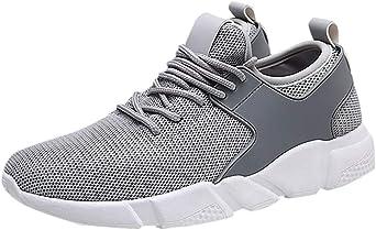 Zapatos de Lona de los Hombres de Placas de Peso Ligero Calzado Transpirable Zapatillas de Deporte Casuales de Verano Trainer: Amazon.es: Ropa y accesorios