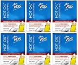 Alberto VO5 Hot Oil Intense Strengthening Treatment for Permed and Colour Treated Hair, 3 Tubes, 0.47 Ounce, (Pack of 6)