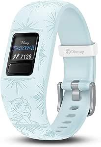 Garmin vívofit Jr 2, Kids Fitness/Activity Tracker, 1-Year Battery Life, Adjustable Band, Disney Frozen 2, Elsa, Light Blue