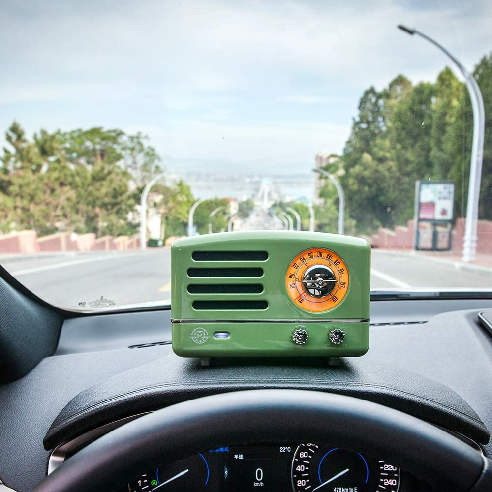 Retro Bluetooth Speaker, MUZEN OTR Metal Vintage FM Radio, Portable Wireless Loud Volume Speaker, Small for Family Friend Birthday Holiday Outdoor Home Décor Camping Car - Mint Green: Home Audio & Theater