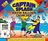 Water Balloon Launcher 200 Yards by Captain Splash, 3 Person Slingshot Cannon Catapult, 150 FREE Water Balloons & Carry Case Included. (Red, Extra Strong Latex Sling) 2018 Edition. Outdoor Games