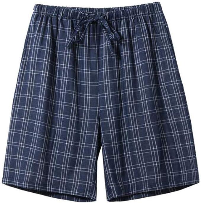 Pantalones Cortos de Pijama de algodón de Doble Capa para Hombres ...