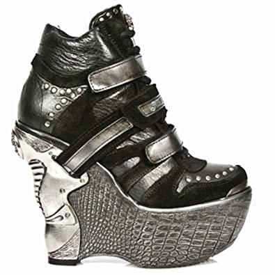 New Rock Panzer Boots Women - Black - Euro 42 / UK 7.5