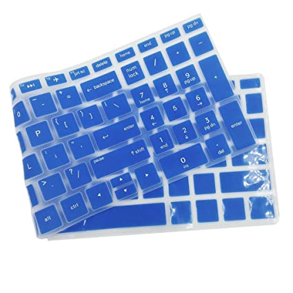 Ultra Thin Durable Keyboard Cover Silicone Skin for Dell MagiDeal Blue