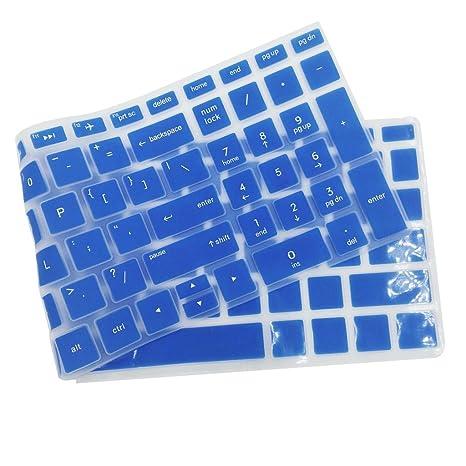 MagiDeal Cubierta Piel Protectora de Teclado de Escritorio de Silicona para HP 15.6 Pulgadas BF Portátil