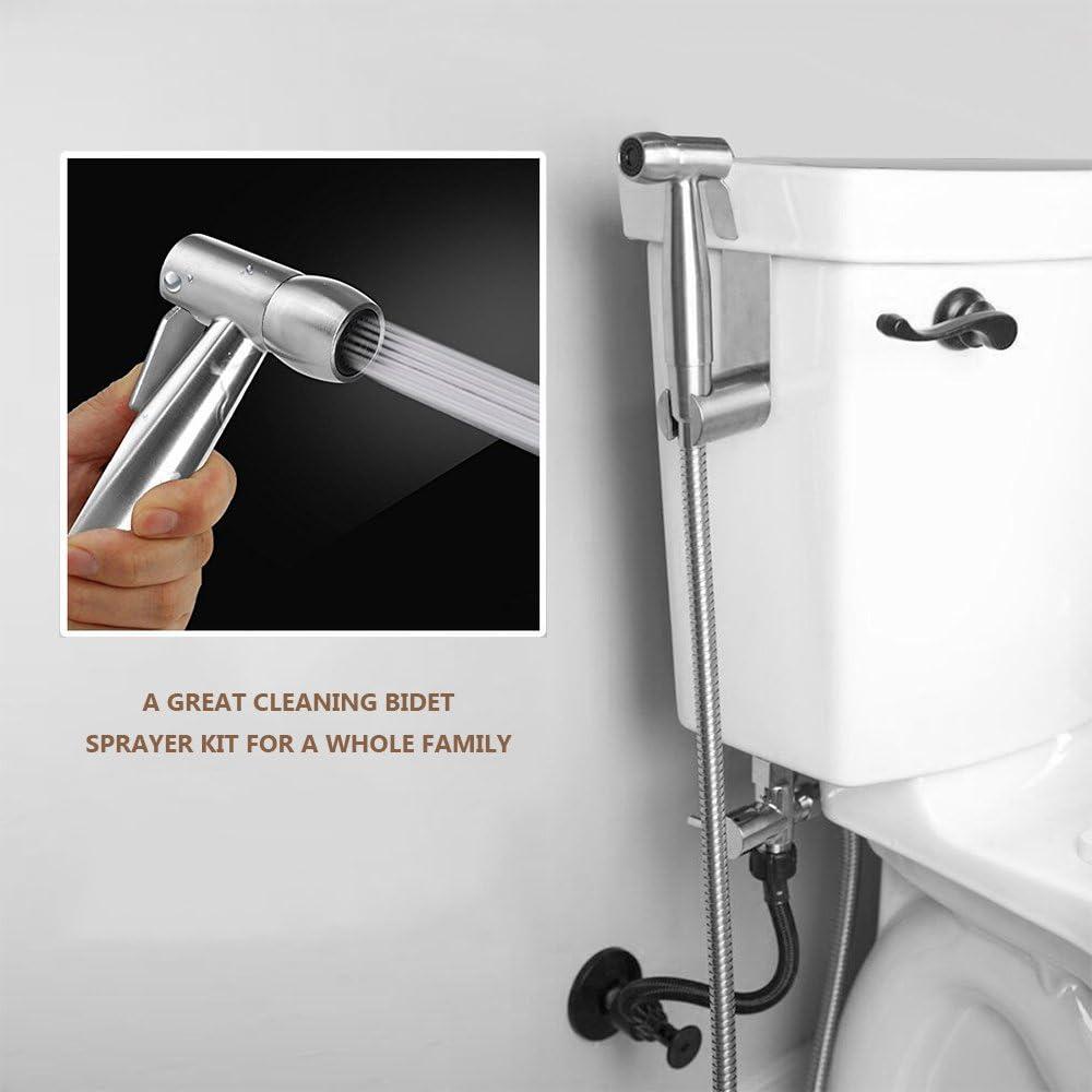 Douchette WC Hygi/ène en Acier Inoxydable Vaporisateur de Toilette avec Tuyau Portable pour lhygi/ène Pulv/érisateur de Douche Parfait pour Hygi/ène Personnelle Nettoyage Toilette Bidet Spray