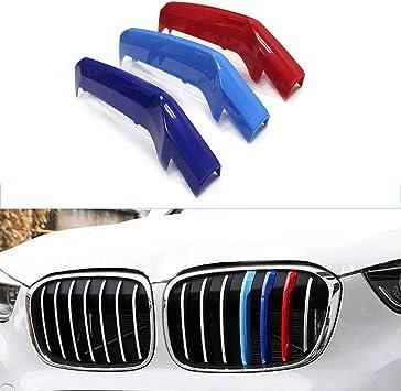 K/üHlergrill Trim Motorsport Streifen Grill Cover Dekoration Aufkleber F/üR BMW X2 F39 2018 Nieren Sport K/üHlergrille Glanz Abdeckung