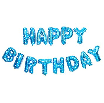 Amazon KFSO Happy Birthday Balloons BannerFoil Letters Mylar For Party Decoration C Health Personal Care