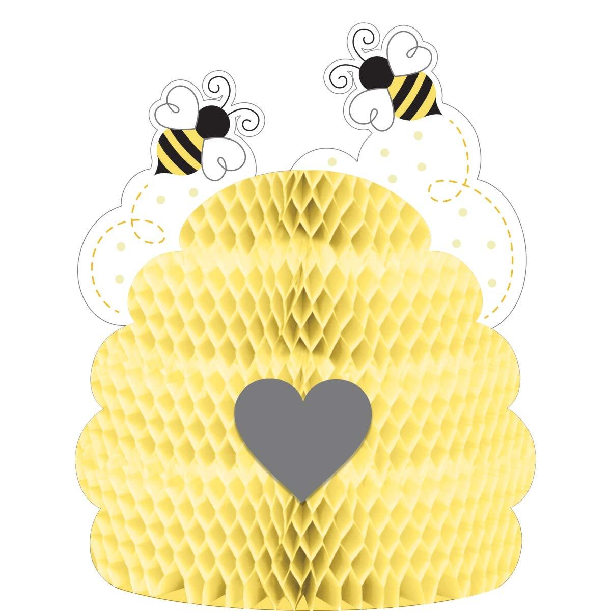 "Creative Converting Bumblebee Baby Centerpiece, 9"" x 11"", Multi-color"