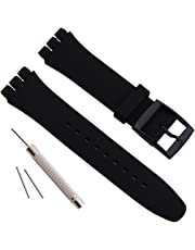 Impermeabile in silicone orologio da polso Watch Band per Swatch (17 MM 19 mm 20 mm)