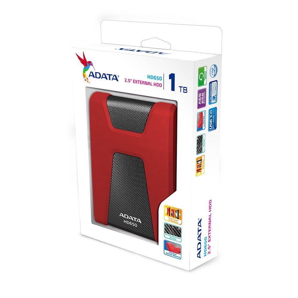 ADATA HD650 1TB Anti-Shock External Hard Drive, Red (AHD650-1TU3-CRD) by ADATA (Image #6)
