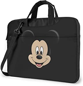 15.6 Inch Laptop Bag Mickey Mouse Head Laptop Briefcase Shoulder Messenger Bag Case Sleeve