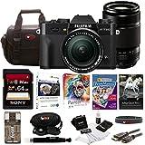 Fujifilm X-T20 Mirrorless Camera w/18-55mm + 55-200 Lens 64GB Bundle (Black)