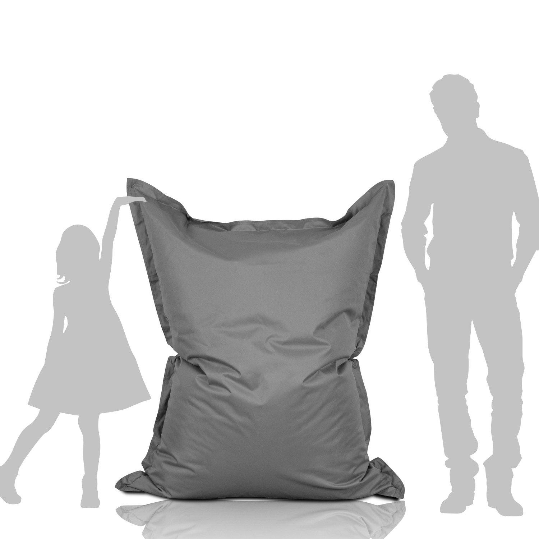 Lumaland Poltrona sacco Pouf Puff XL 270l Imbottitura innovativa 160 x 120 cm per interni ed esterni blu scuro Amazon Casa e cucina