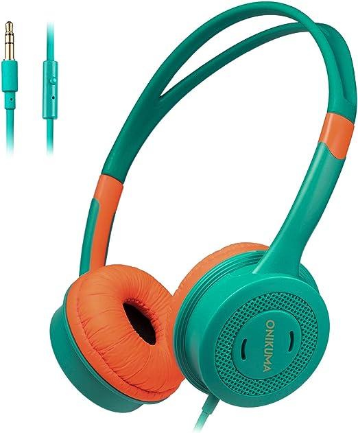 HERAHU Auriculares estéreo insonorizados para niños, micrófono ...