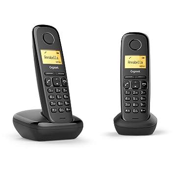 Gigaset A170 Duo. Teléfono inalámbrico; Pack de 2 Unidades. Agenda 50 contactos.