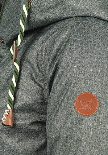 Mujer Capucha Blendshe Chaqueta Forro Para Parka De Invierno Suave Duffle Con Dale Peluche Abrigo Green Bag 77019 xqxpPv1wR