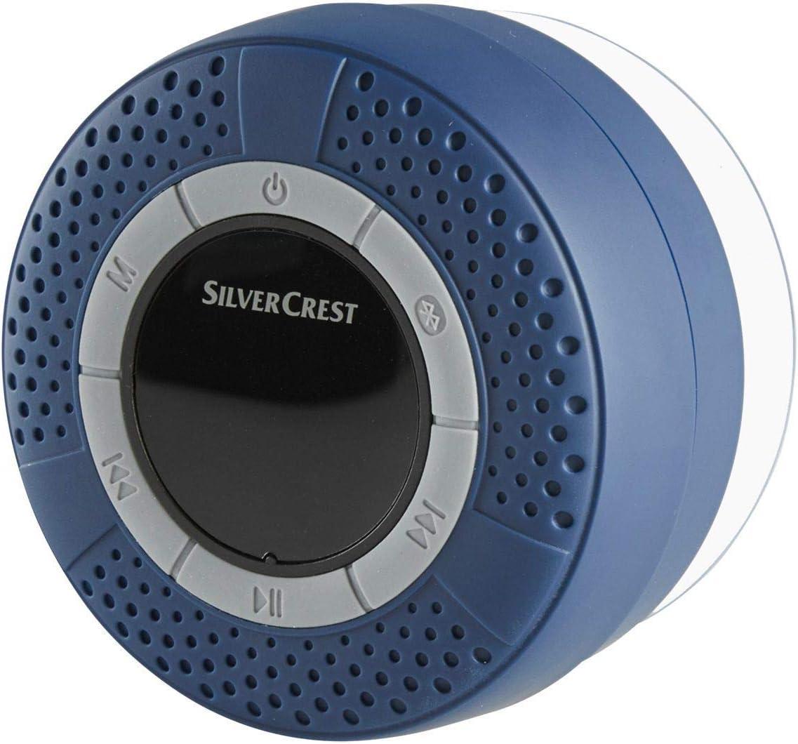 Silvercrest Enceinte Bluetooth pour salle de bain Radio IPX16 sans