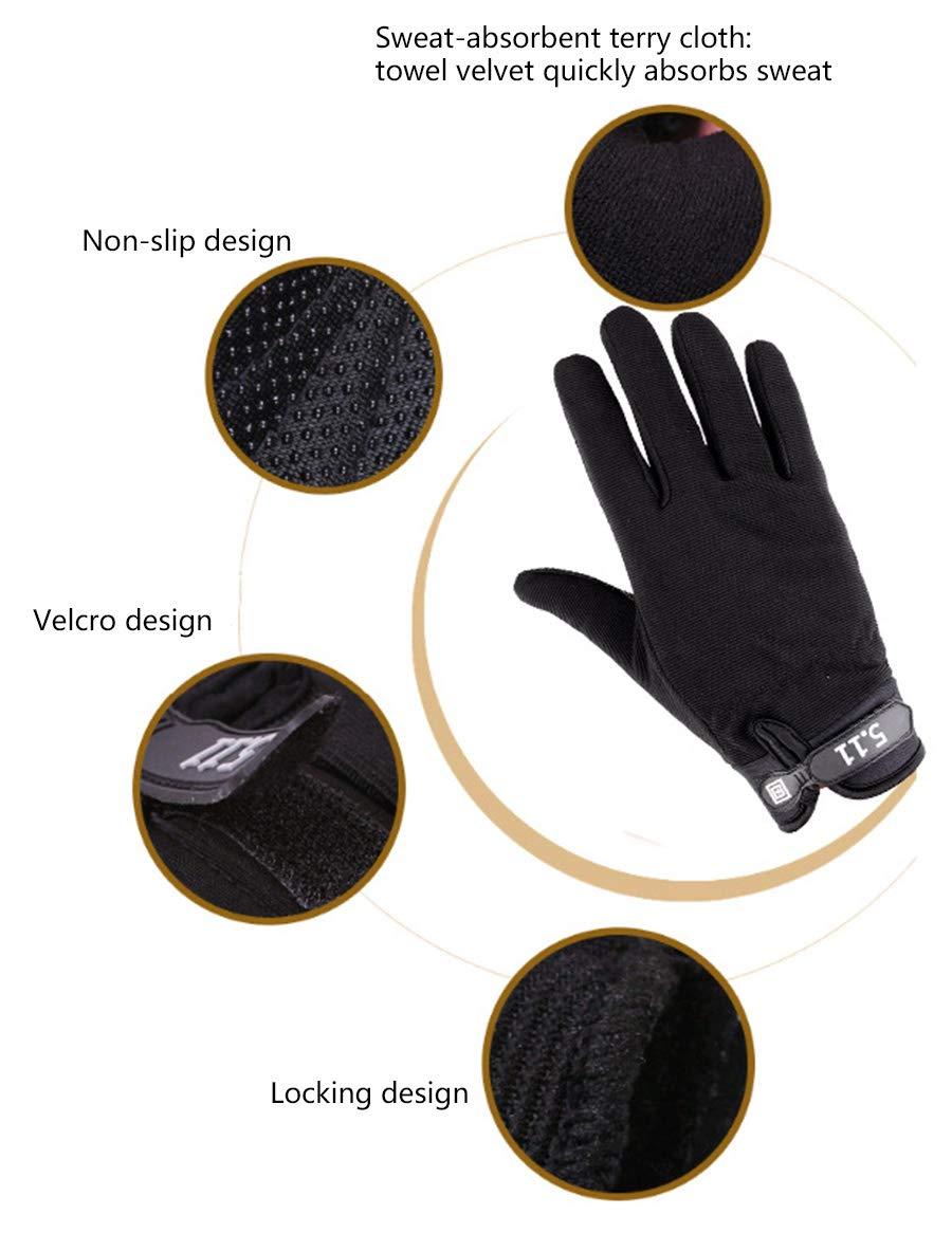 Unisex Mens Women Outdoor Touch Screen Gloves Winter Full Finger Fitness Gloves (Large, Black)