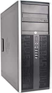 HP Elite 8200 Tower Desktop (Intel Quad Core i5 3.10GHz, 16GB RAM, 120GB SSD, 2TB HDD, Windows 10 Professional, WiFi, Keyboard, Mouse) (Renewed)