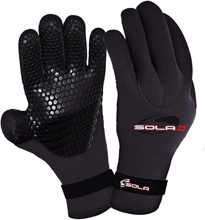 Sola Watersports Adults 5mm Neoprene Lobster Claw Wetsuit Gloves