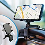 Dashboard Phone Holder - Car Phone Mount with Adjustable Spring Clip for Multiple Use 360-Degree Rotating Phone Stand…