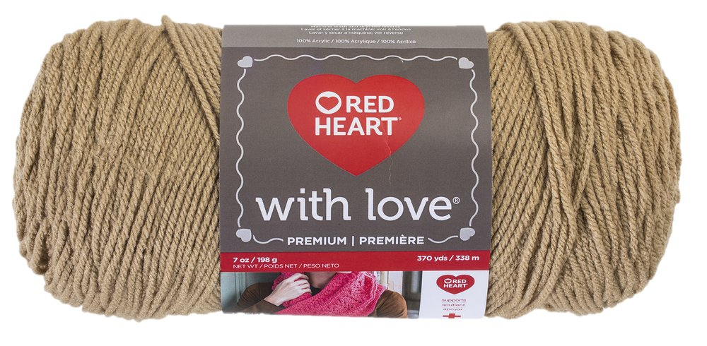Red Heart With Love Yarn 3-Pack, White Coats & Clark E400PK.1001