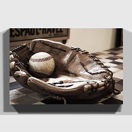 Big Box Art Lienzo de Pelota de béisbol y Guante, 24 x 16-Inch/60 ...