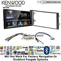Volunteer Audio Kenwood DMX7704S Double Din Radio Install Kit with Apple CarPlay Android Auto Bluetooth Fits 2013 Nissan Frontier, Titan