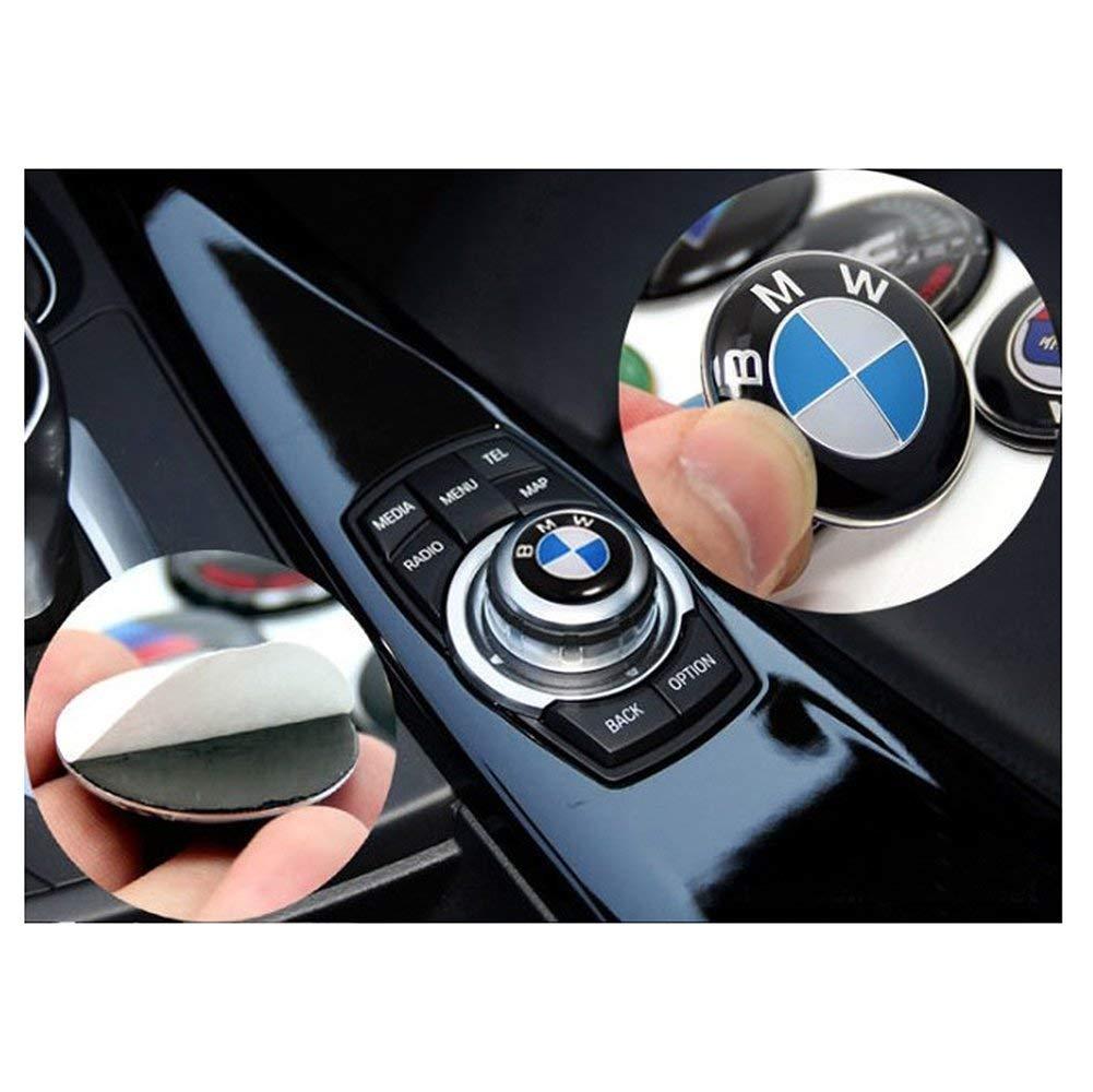 APEng 29mm iDrive Controller Sticker Emblem for BMW E46 E39 E38 E90 E60 E36 F30 F30 E34 F10 F20 E92 E38 E91 E53 X3 X5
