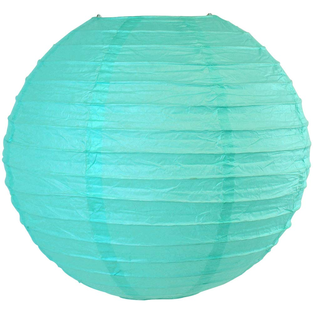 Just Artifacts 16'' Turquoise Blue Chinese/Japanese Paper Lantern/Lamp 16'' Diameter - Just Artifacts Brand