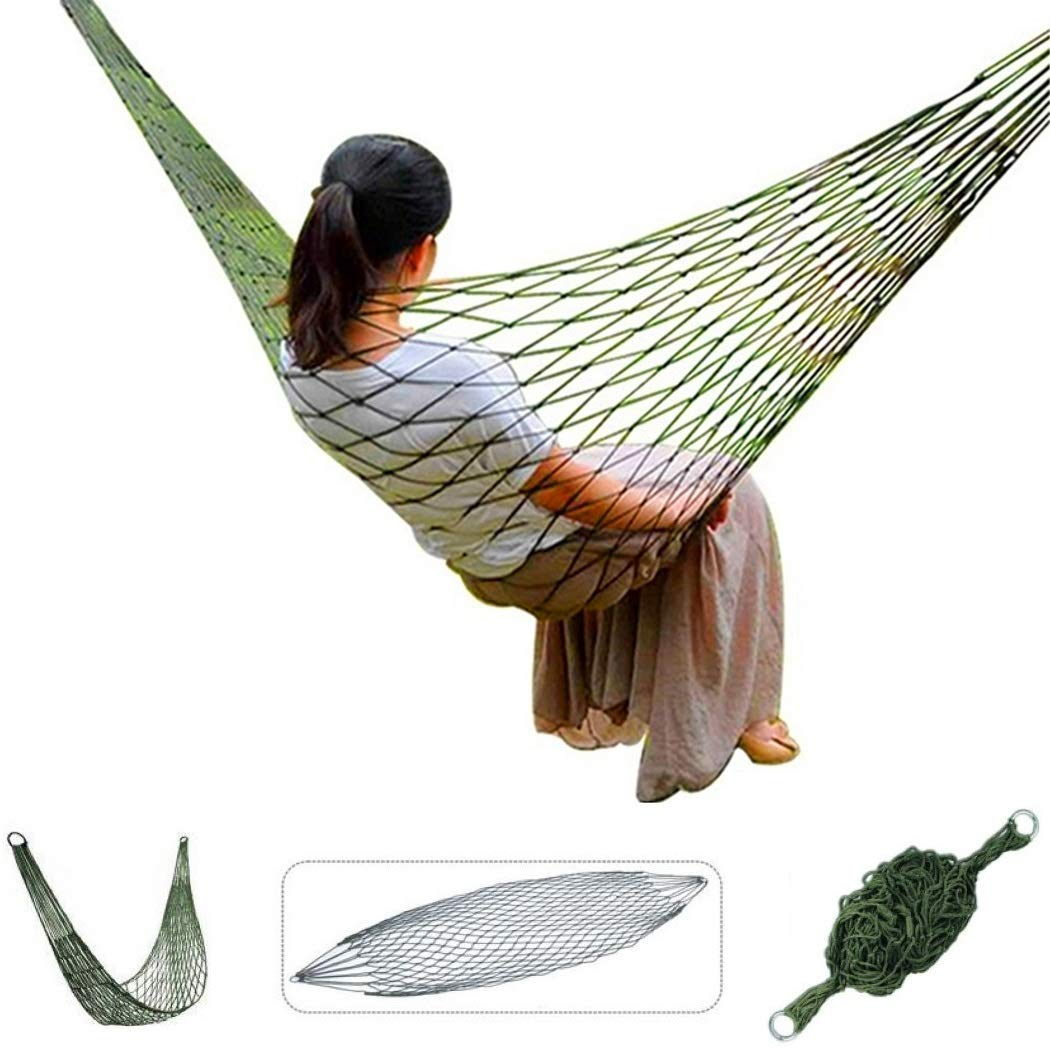 FLM Amache HWZP01 – Portable Nylon Paracadute Multifunzionale Amaca per esterni, viaggi, campeggio, trekking, escursioni, dormire o giardino fuluomei