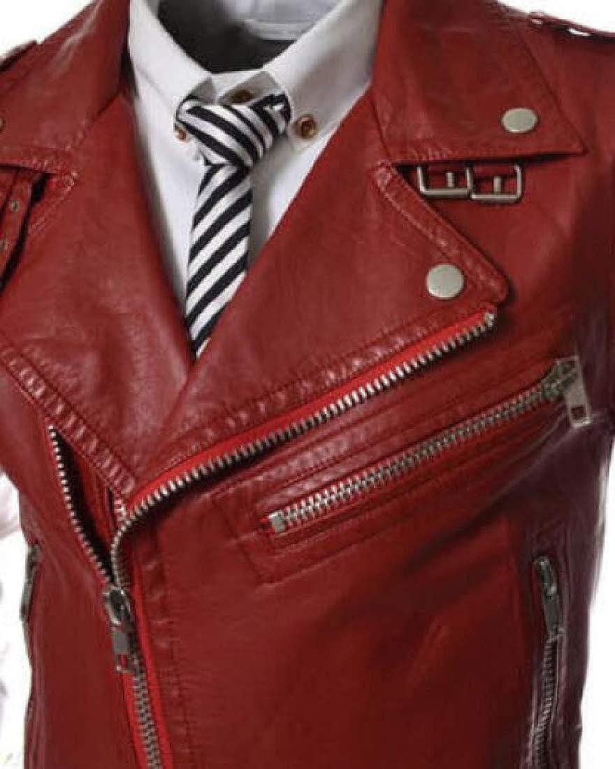 Beloved Mens Sleeveless Motorcycle Jacket Vest Faux Leather Waistcoat