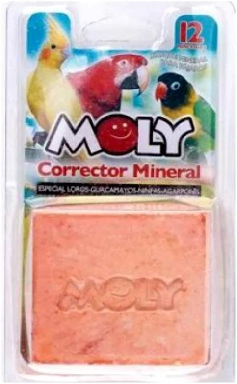 Moly Calcio para pájaros - Loros, Ninfas, Agapornis, Cotorras, Cacatúas, Guacamayos 150g