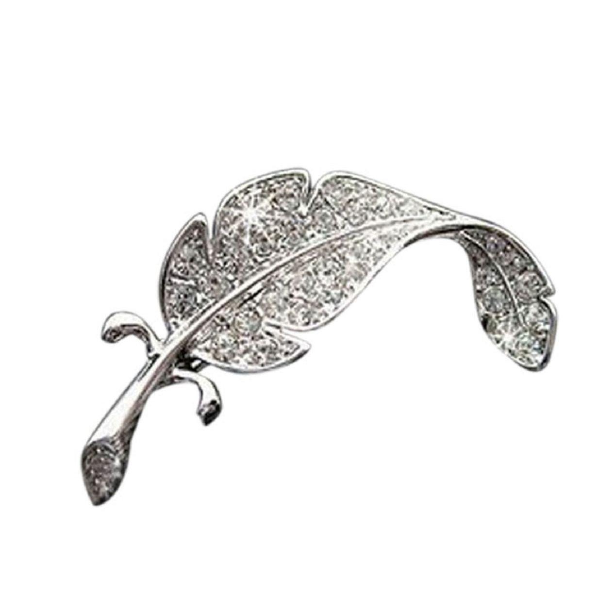 843f9a31a Amazon.com: Welcomeuni New Retro Vintage Cute Beautiful Feather Leaf Mini  Cute Brooch Pin: Jewelry