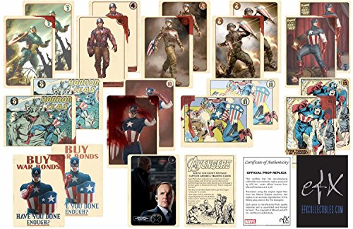 Agent Coulson's Vintage Captain America Trading Card Set by (Set Trading Card Game)
