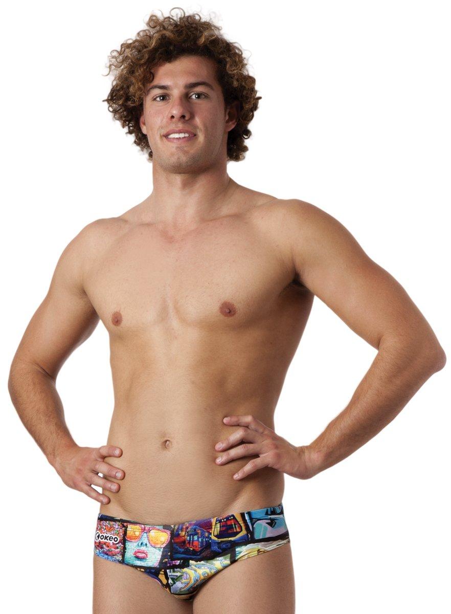 Okeo MAURO- Costume slip uomo per il nuoto