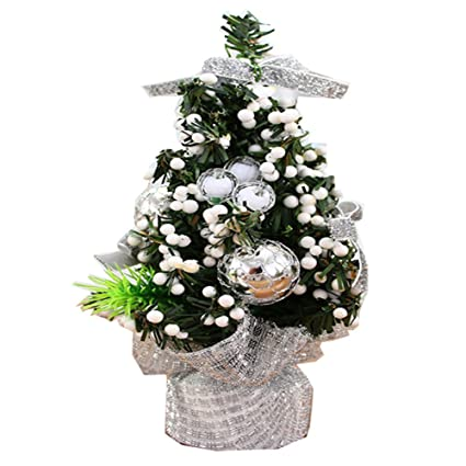 exquisite decorative indoor 20cm mini artificial christmas tree ornaments decoration with jewelry christmas decorations for christmas - Amazon Christmas Decorations Indoor