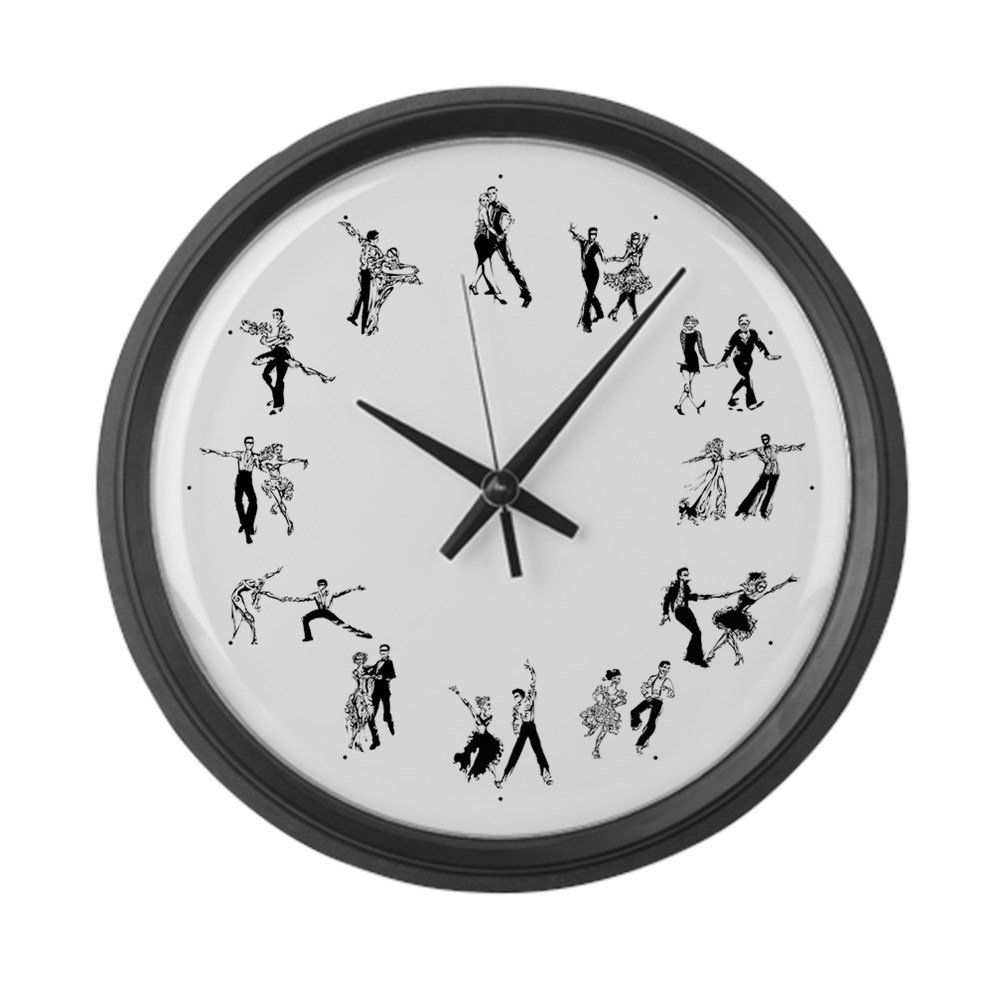 CafePress - 12 Dances - Large 17'' Round Wall Clock, Unique Decorative Clock