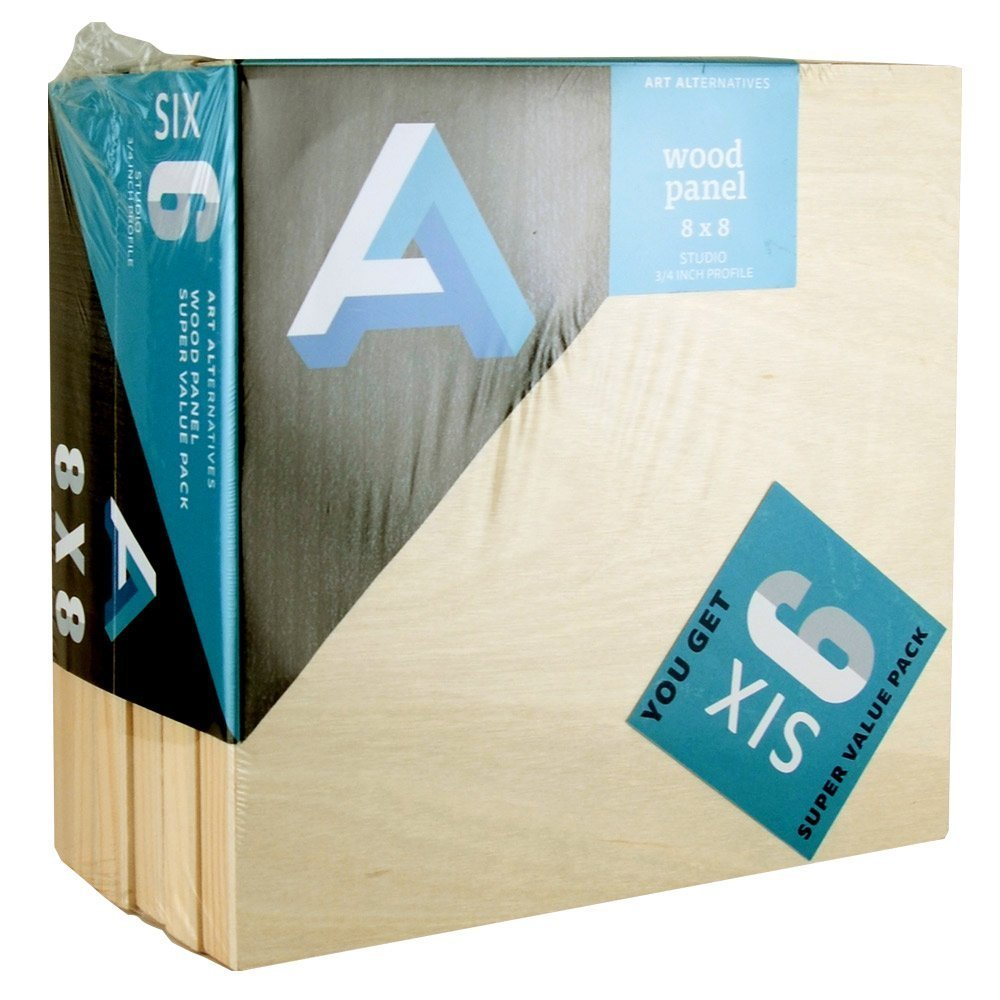 Art Alternatives Wood Panel Super Value 8x8 Pack of 6 by Art Alternatives