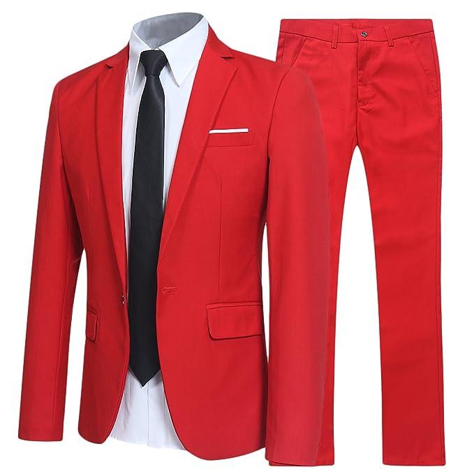 Allthemen - Traje Rojo - para Hombre