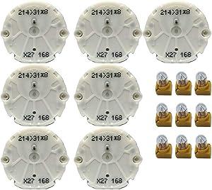 Tanin Auto Electronix Instrument Cluster Repair Kit | GMC & Chevy Truck | 7 OEM X27.168 Stepper Motors & 9 Light Bulbs