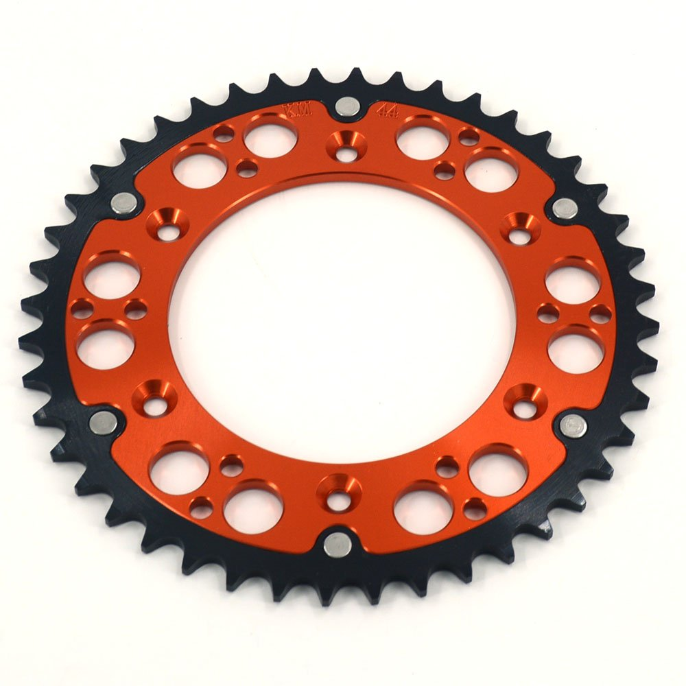 JFG RACING 52T CNC Rear Chain Sprocket - KTM XCF EXC XC XCW EXCF SX SXF 125 150 200 250 300 450 525 - Orange