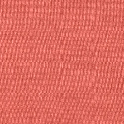 Ben Textiles 60'' Poly Cotton Broadcloth Fabric, Coral, Fabric by the yard